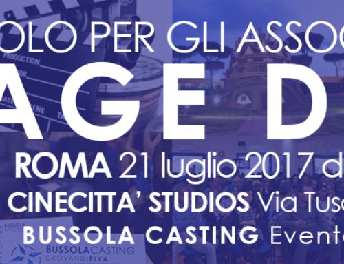 STAGE DAY – convocazione artisti a Cinecittà Studios
